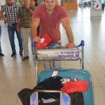 Jaco Van Der Merwe packed and ready to go