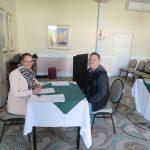Renee screening a potential candidate in Port Elizabeth