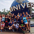 Group of friends enjoying their time at Universal Studios