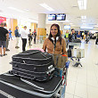 Rochelle arriving back at Cape Town airport after a season in Florida