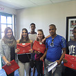 Successful candidates dropping off their visa pack in Cape Town